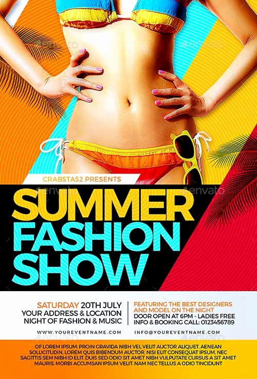 Fashion Show Flyer Template Luxury Ffflyer