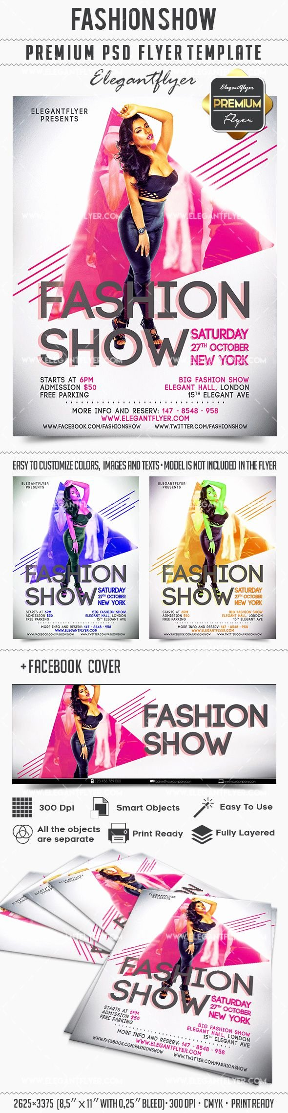 Fashion Show Flyer Template New Fashion Show Invitation Flyer Template – by Elegantflyer