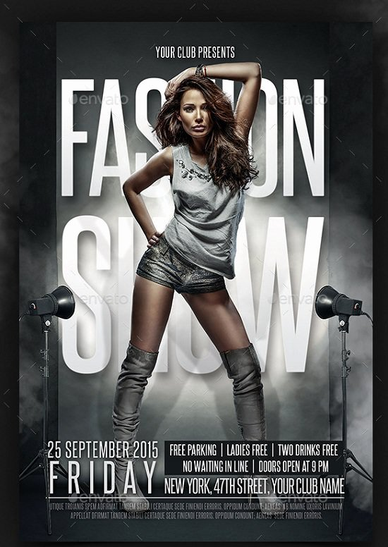 Fashion Show Flyer Template Unique 30 Best Fashion Flyer Templates
