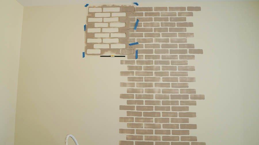 Faux Brick Stencil Beautiful Brick Wall Using A Cutting Edge Stencil White Lace Cottage