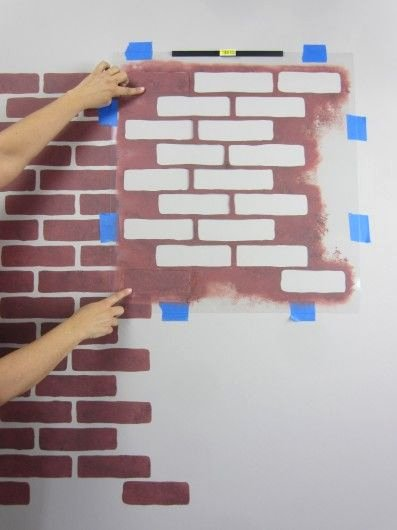 Faux Brick Stencil Best Of Learn How to Stencil the Brick Allover Pattern