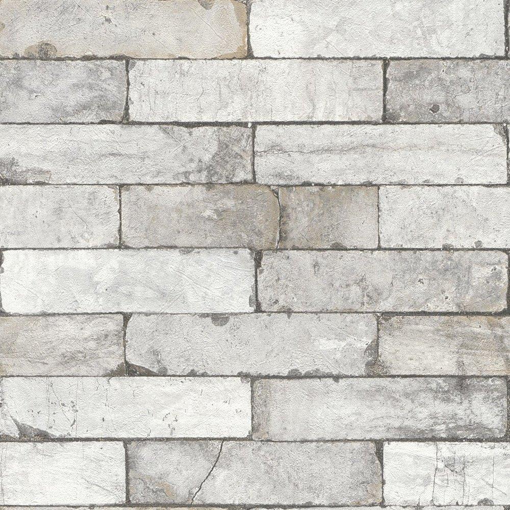 Faux Brick Stencil Best Of Rasch Factory Stone Pattern Brick Wall Faux Effect