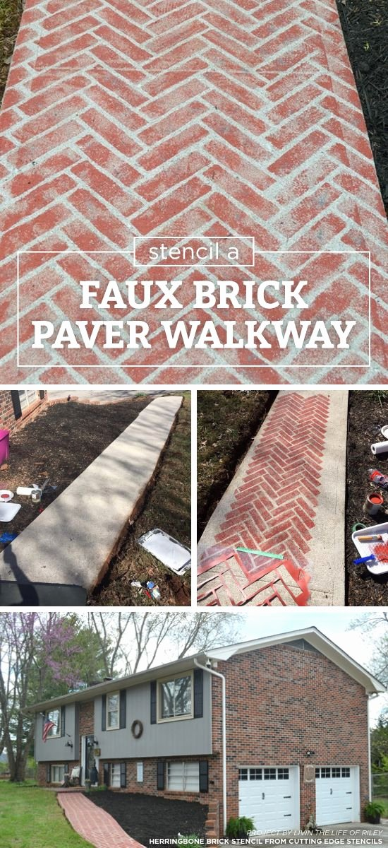 Faux Brick Stencil Fresh Best 25 Faux Brick Walls Ideas On Pinterest