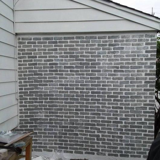 Faux Brick Stencil Fresh Paint A Faux Brick Wall Using Stencils
