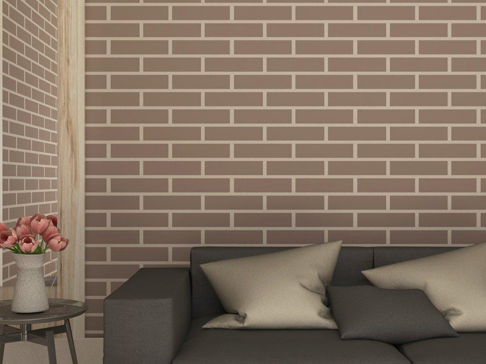 brick wall imitation stencil faux brick