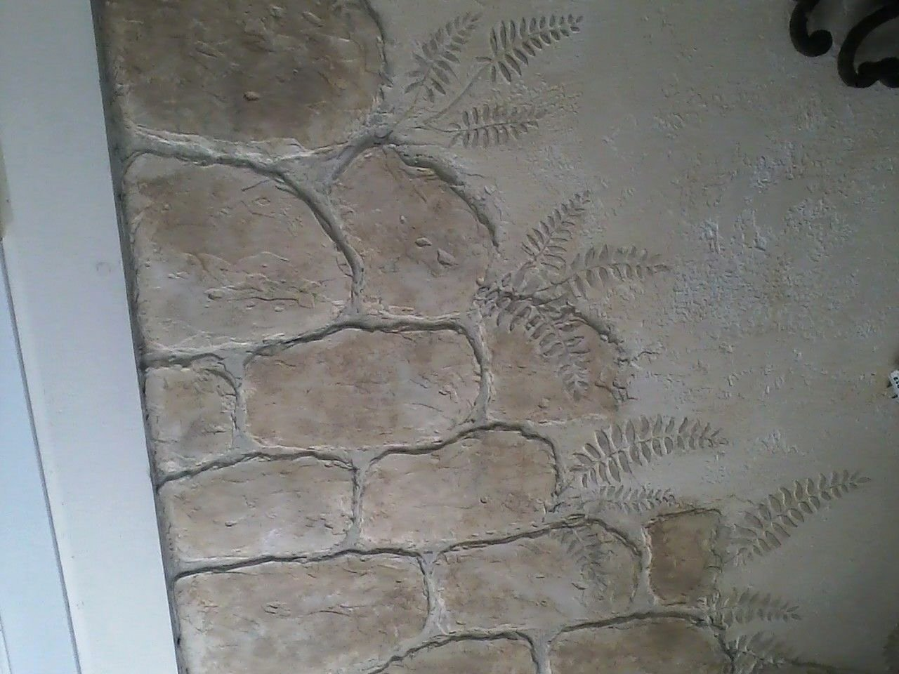 Faux Brick Stencil Lovely Stones Made From Joint Pound Ferns with Stencil and