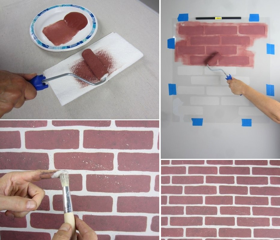 Faux Brick Stencil Luxury How to Faux Brick Wall 5 Ways to Diy