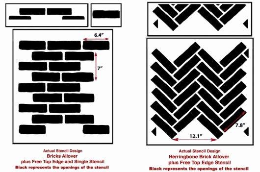 Faux Brick Stencil New Masonry Madness Join the Faux Brick Trend Using Stencils