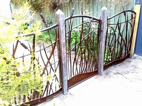 iron garden fence black steel 3 rail fence panel
