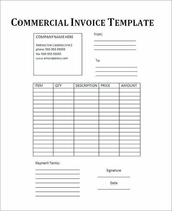 printable mercial invoice template 12 clarifications on printable mercial invoice template