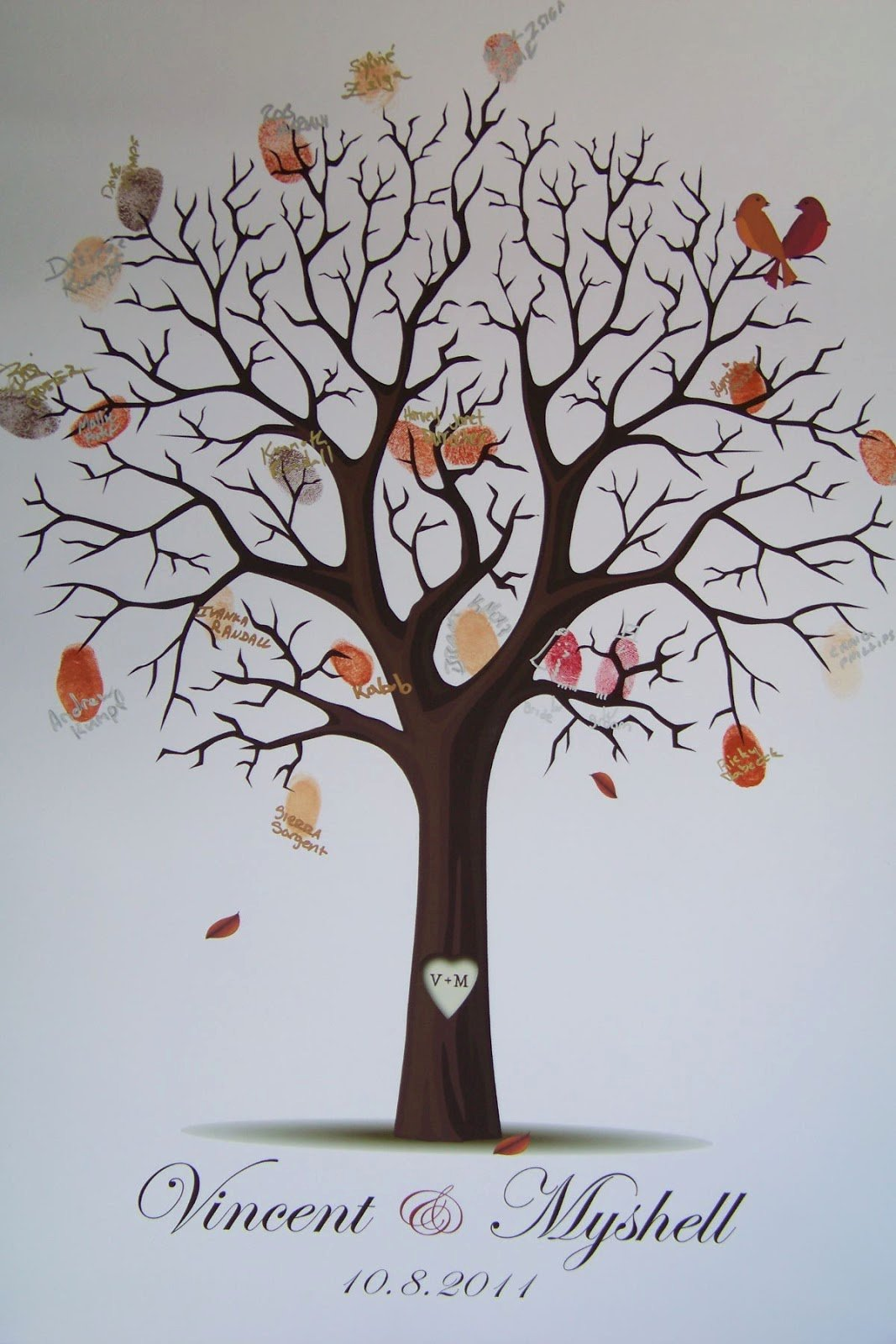 Fingerprint Trees Templates Fresh Floralisa Weddings and events Diy Fingerprint Tree