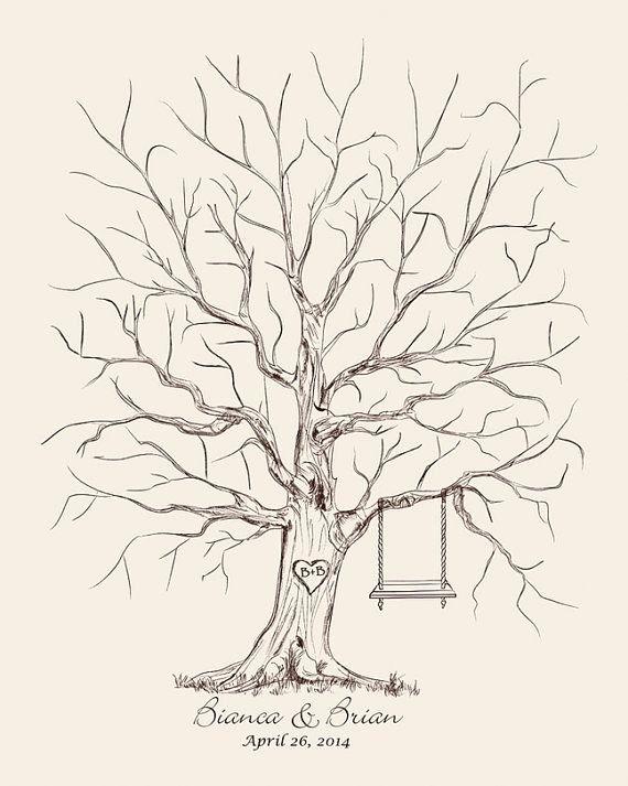 Fingerprint Trees Templates Luxury 25 Best Ideas About Fingerprint Wedding On Pinterest