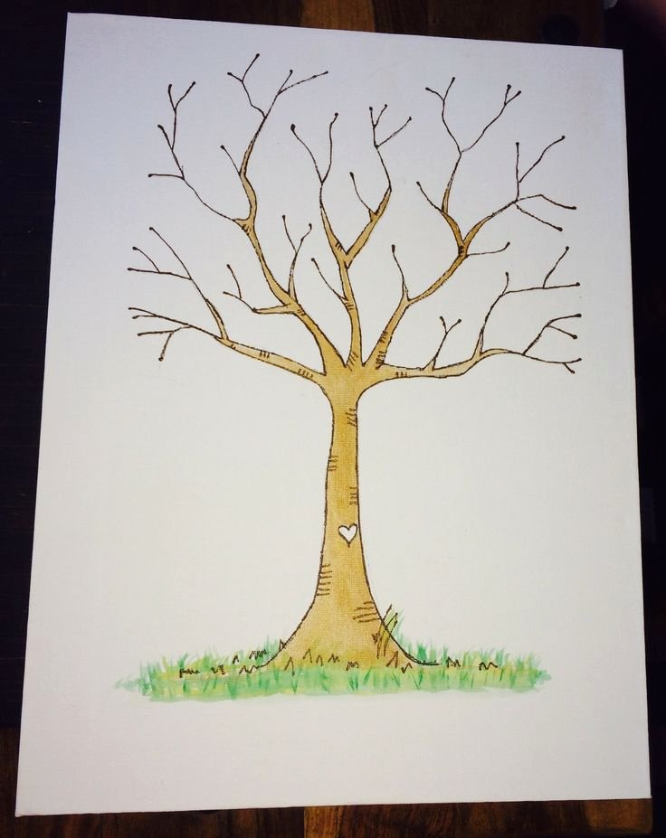 Fingerprint Trees Templates Luxury Best 25 Wedding Fingerprint Tree Ideas Only On Pinterest