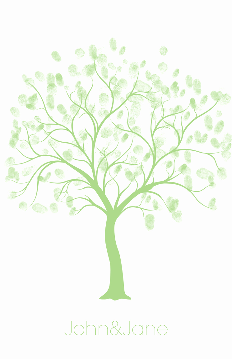Fingerprint Trees Templates Luxury Diy Project Free Fingerprint Guest Book the Adventures