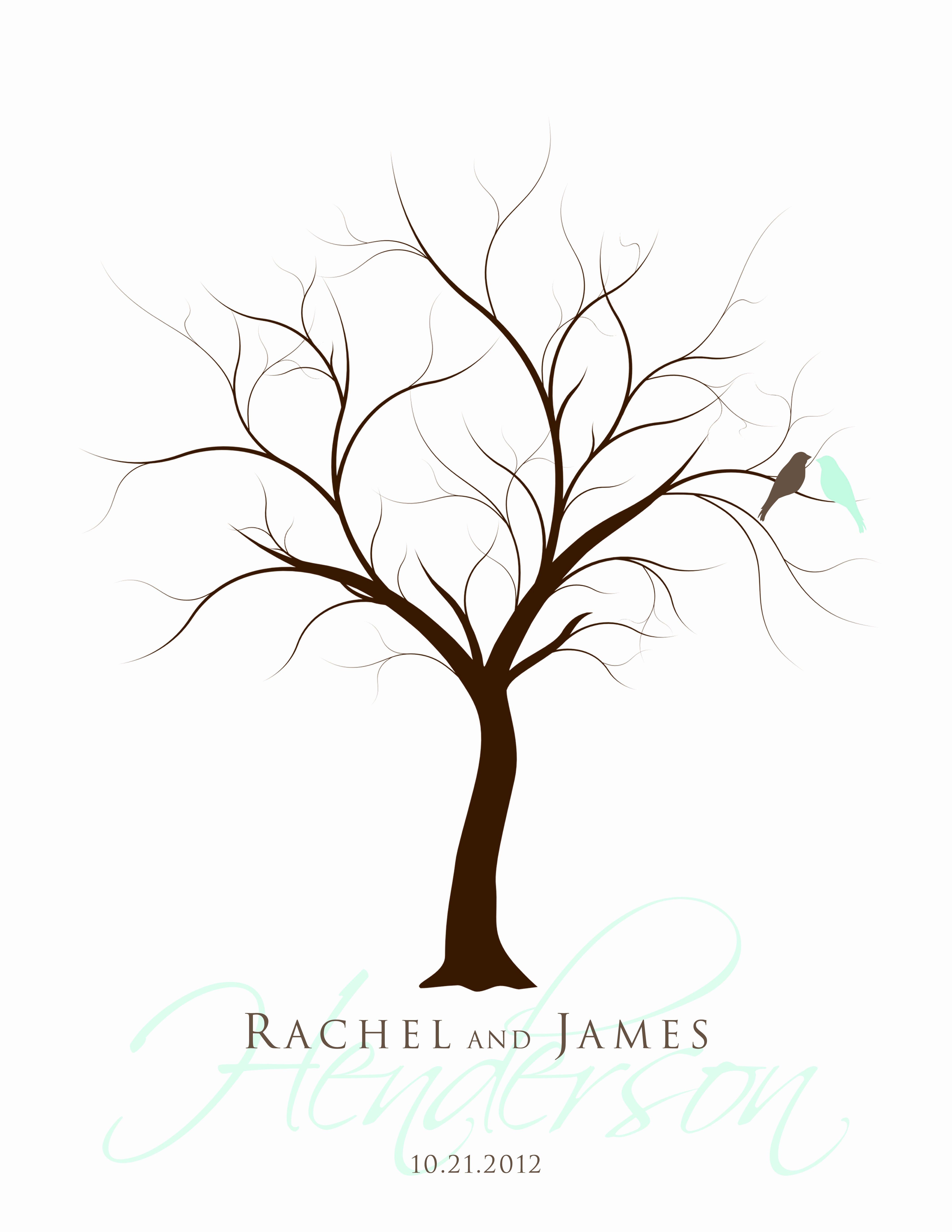 Fingerprint Trees Templates New New 159 Fingerprint Tree Wedding Guest Book Instructions