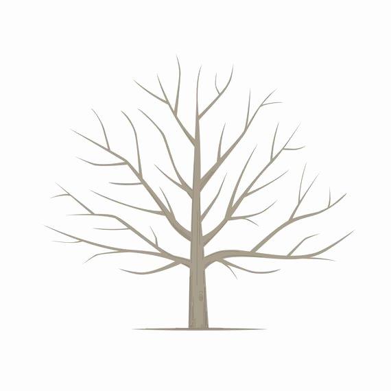 Fingerprint Trees Templates Unique Diy Fingerprint Tree Poster Instant Download Square