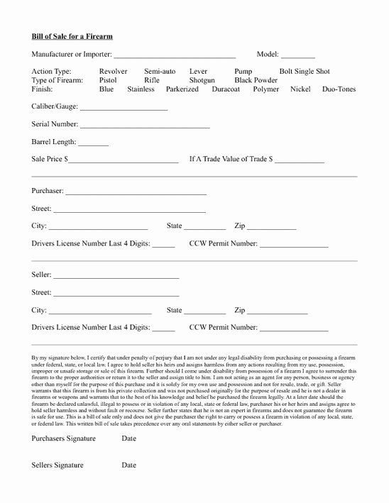Firearms Bill Of Sale Template Awesome Purchasing A Firearm Via Private Survivalist forum