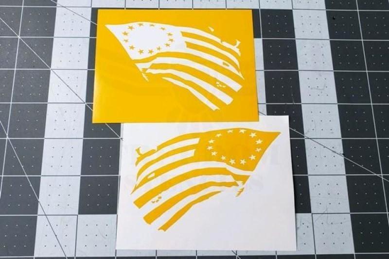13 star flag stencil tattered