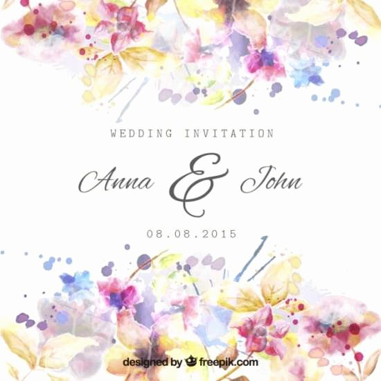 Floral Invitation Template Beautiful 40 Free Wedding Invitation Templates Xdesigns