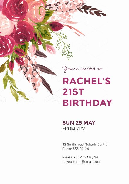 Floral Invitation Template Inspirational Colorful Floral Bouquet Birthday Wedding Invitation Template