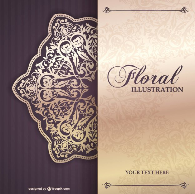 Floral Invitation Template Luxury Floral Invitation Template Vector