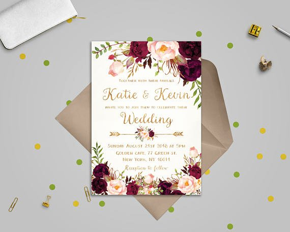 Floral Invitation Template New Floral Wedding Invitation Template Wedding Invitation