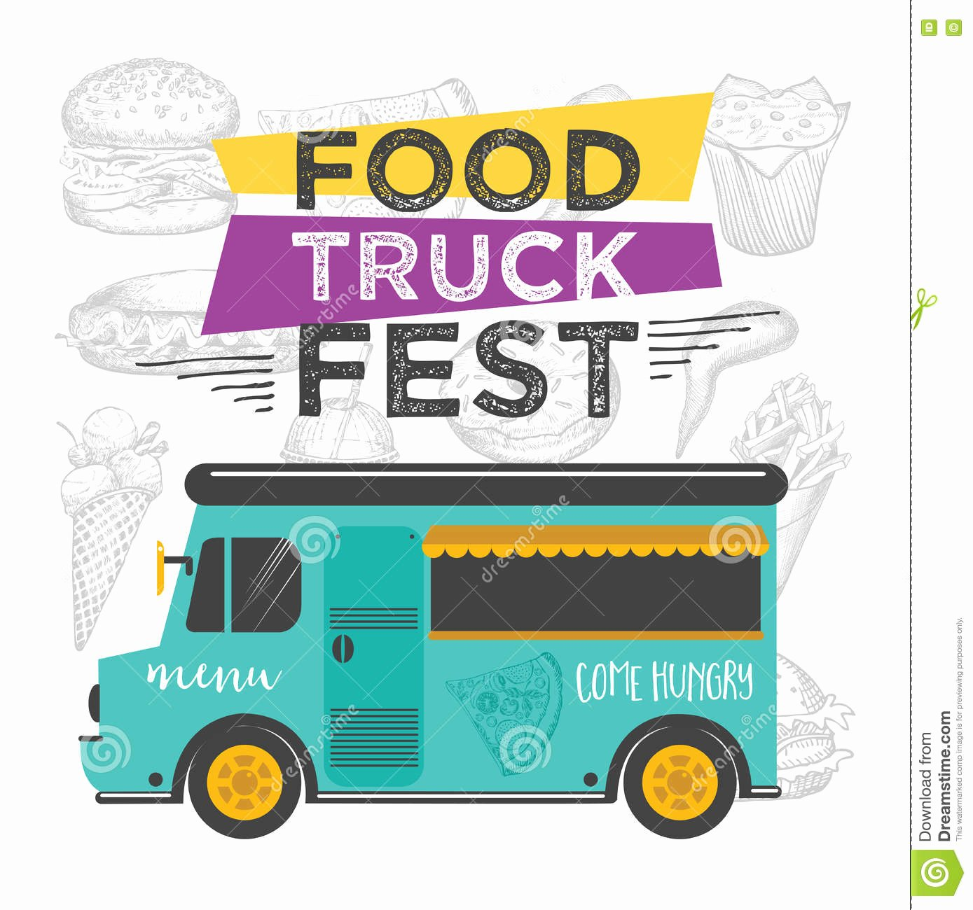 Food Truck Layout Template Best Of Food Truck Party Invitation Food Menu Template Design