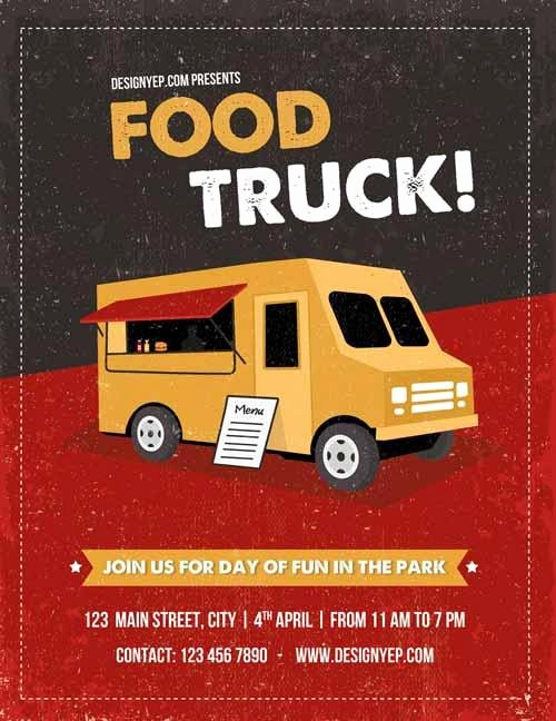Food Truck Layout Template Luxury 13 Good Looking & Free Restaurant Flyers Templates