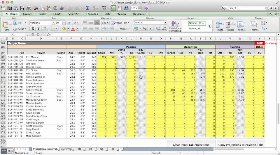 Football Depth Chart Template Excel format Luxury Football Excel Spreadsheet Jill Scott Insomnia
