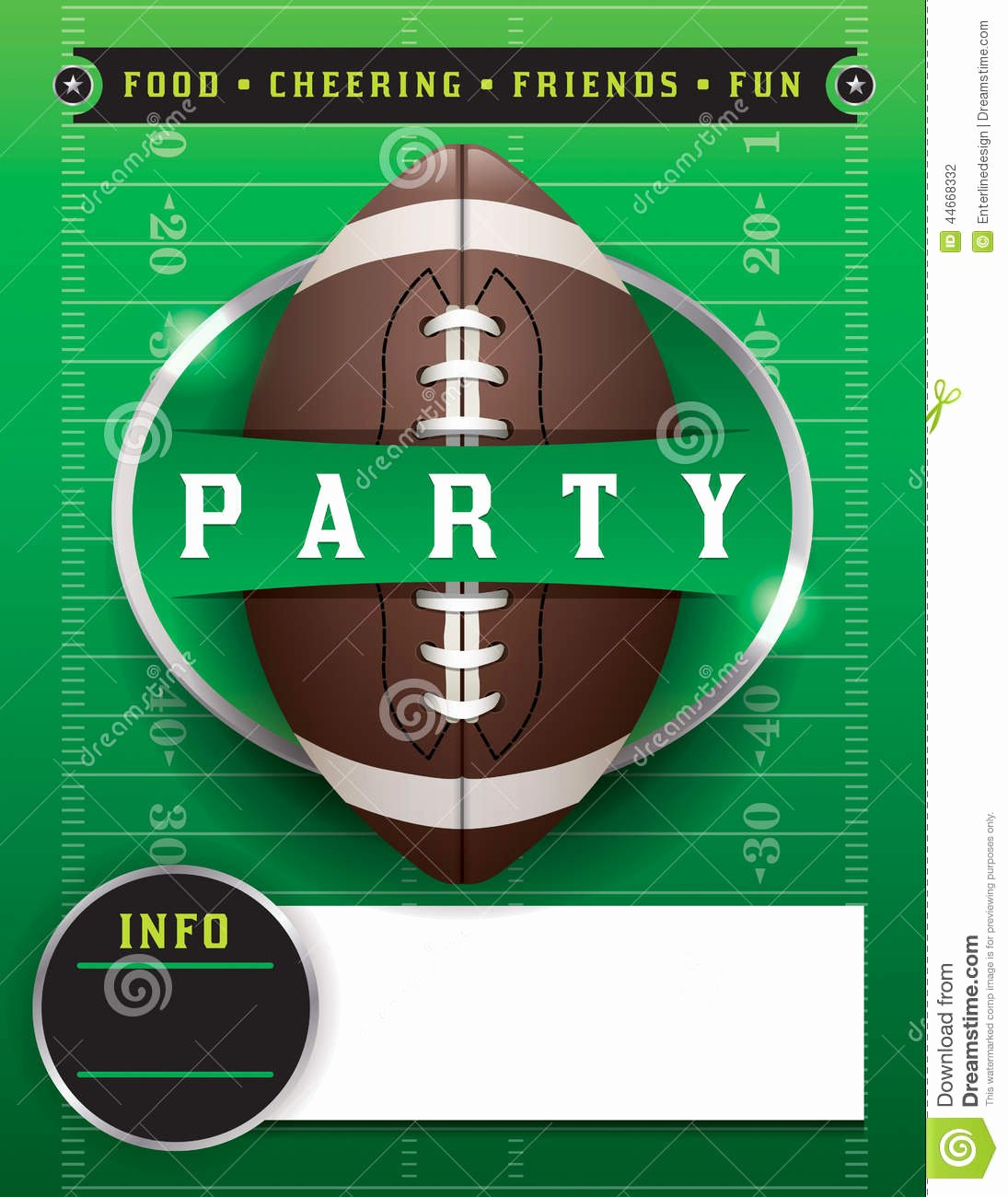 stock illustration american football party template illustration vector eps available eps contains transparencies fonts have been converted to image