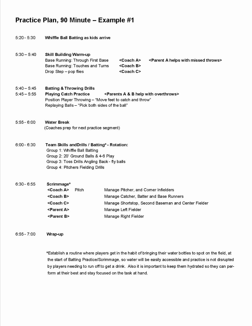 printable soccer practice plans