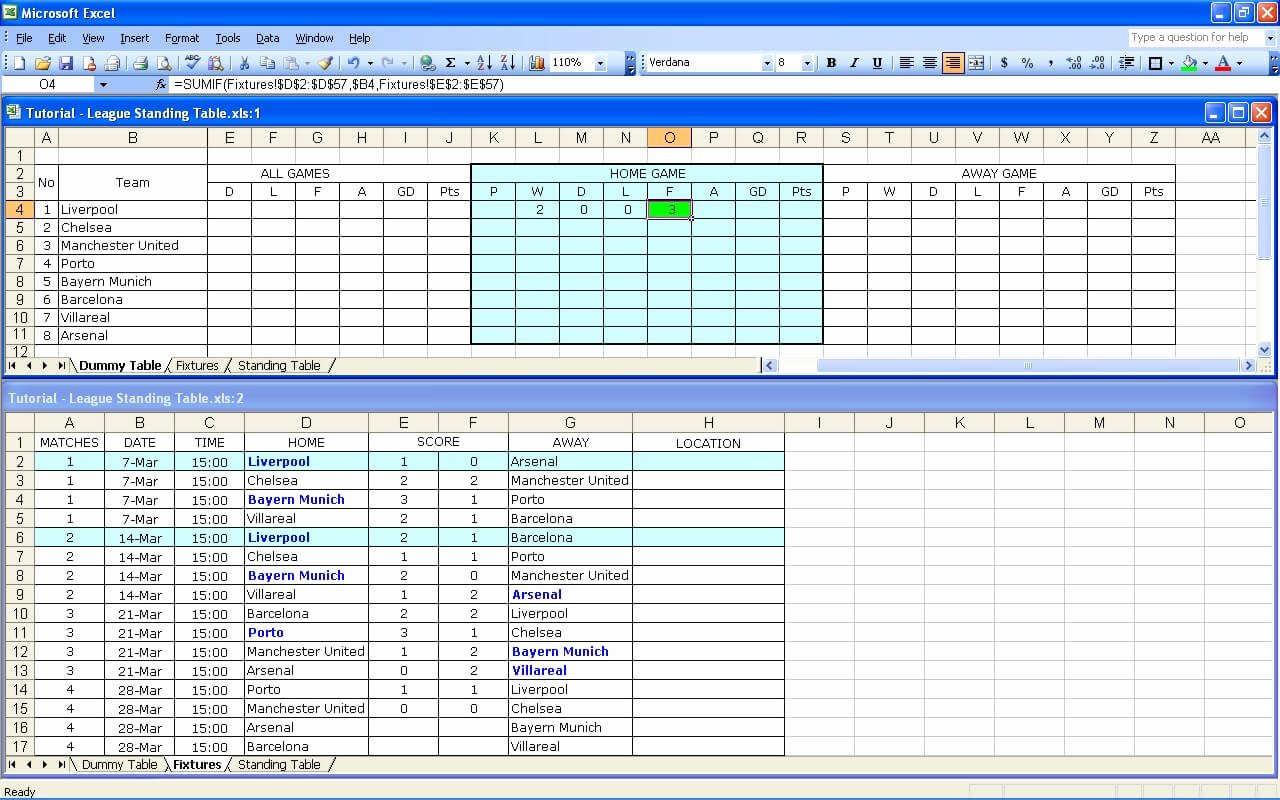 create your own soccer league fixtures and table 2