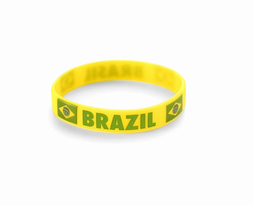 Football Wristband Template Beautiful Brazil World Cup Olympics Brasil Football Silicone