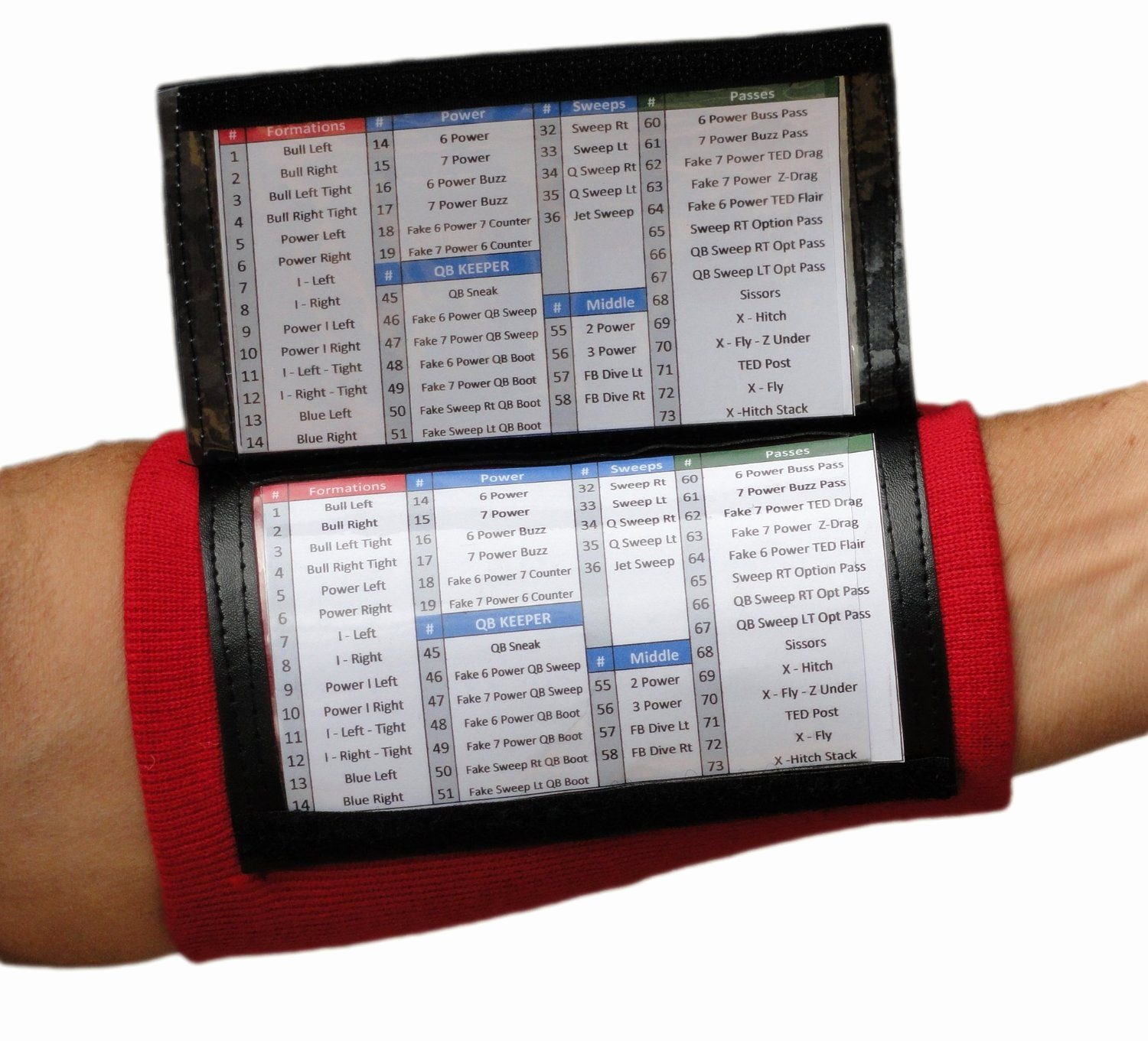 Football Wristband Template Elegant Qb Wrist Coaches for Youth and Adult In Seven Colors