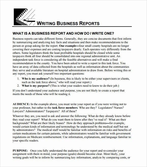 Formal Business Report Example Fresh 16 Sample Business Reports Samples Examples Templates
