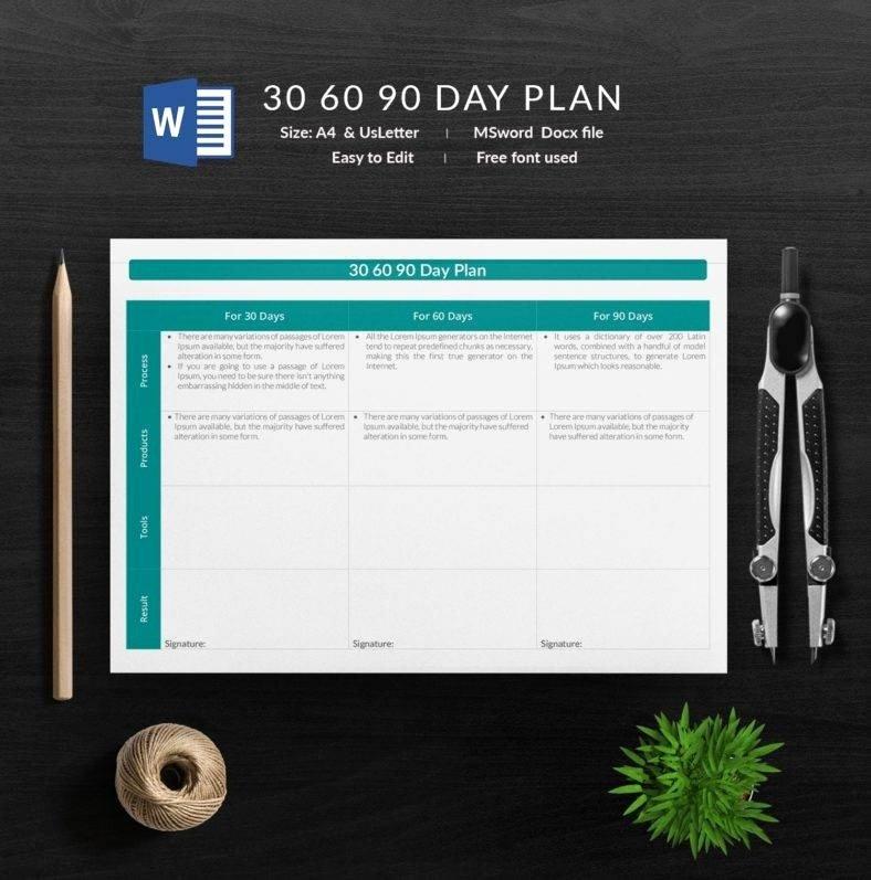 Free 30 60 90 Day Plan Template Word Elegant 12 Free 30 60 90 Day Plan Templates In Word
