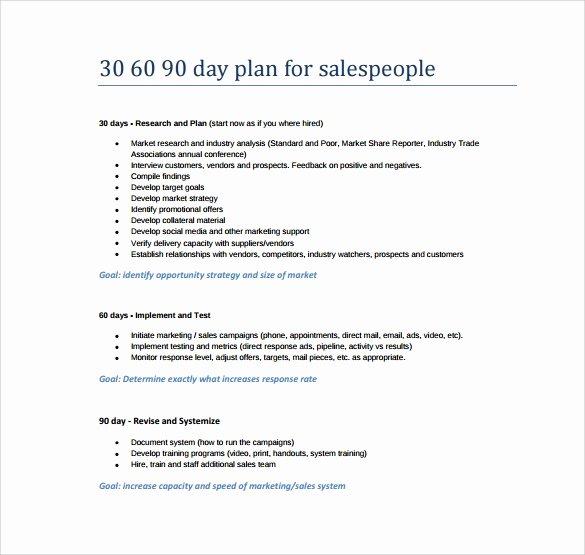 Free 30 60 90 Day Plan Template Word Elegant 14 Sample 30 60 90 Day Plan Templates Word Pdf