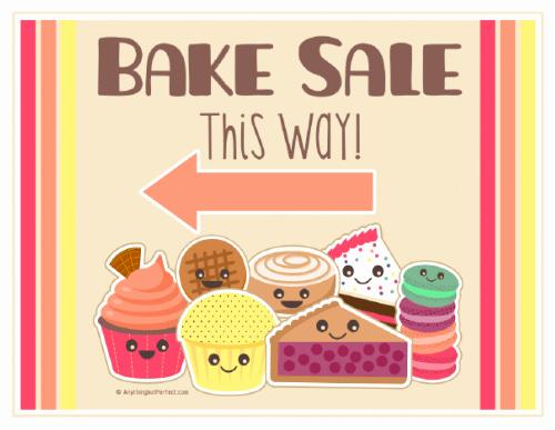 bake sale printable labels set