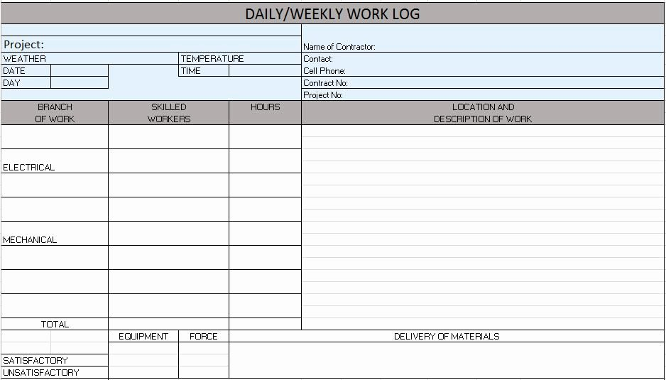 Free Construction Daily Report Template Excel Awesome Free Construction Project Management Templates In Excel