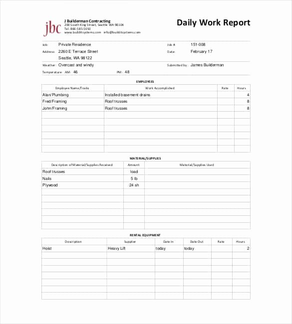 Free Construction Daily Report Template Excel New 64 Daily Report Templates Pdf Docs Excel