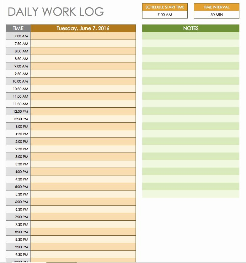 Free Daily Schedule Template Luxury Free Daily Schedule Templates for Excel Smartsheet