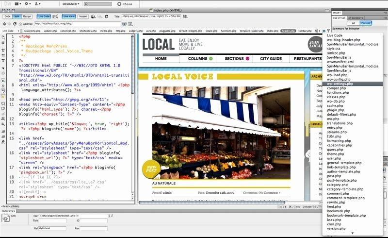 Free Dreamweaver Templates Cs5 Unique Dreamweaver Cs5 First Look More Wordpressy More