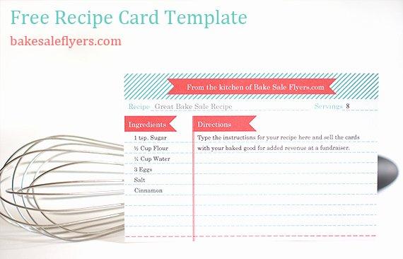 Free Editable Recipe Card Templates for Microsoft Word Fresh Bake Sale Flyers – Free Flyer Designs