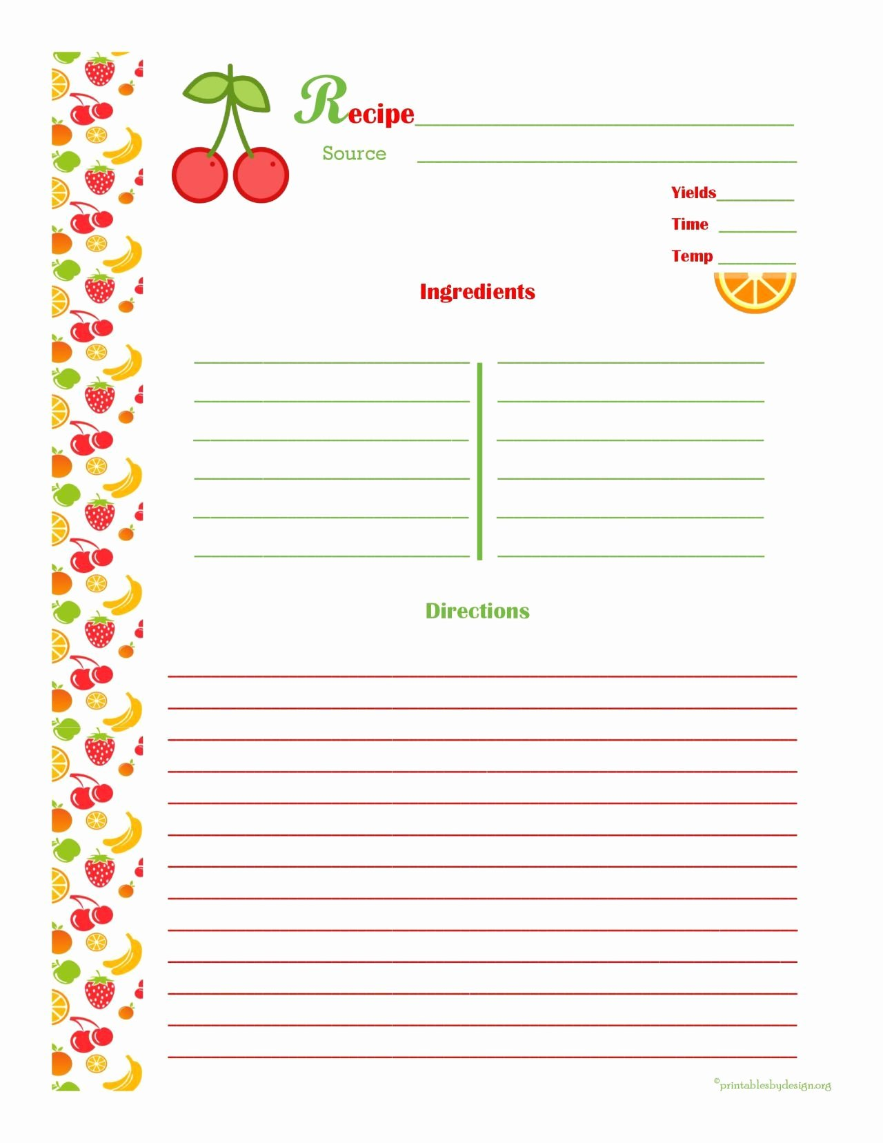 Free Editable Recipe Card Templates for Microsoft Word Fresh Free Editable Recipe Card Templates for Microsoft Word