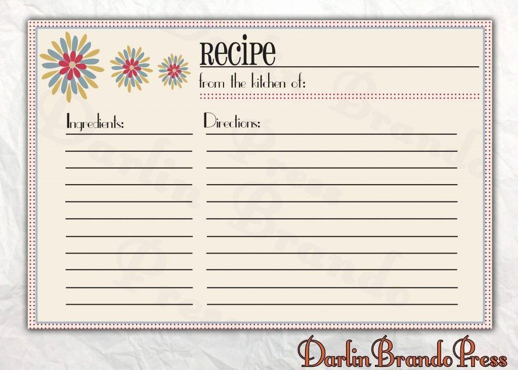 Free Editable Recipe Card Templates for Microsoft Word Inspirational Free Recipe Card Templates for Microsoft Word – Free
