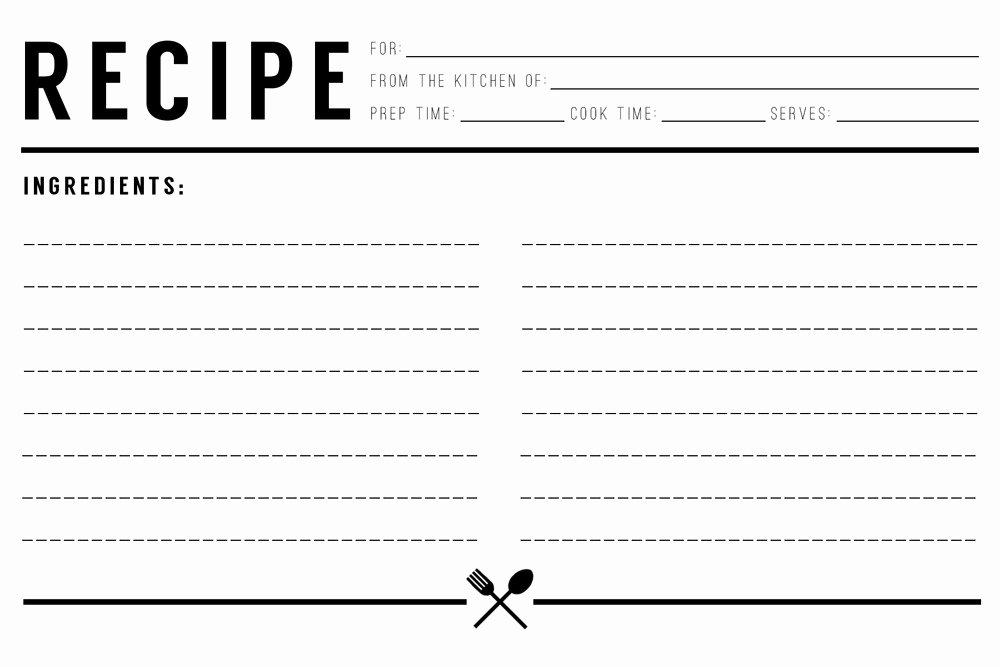 Free Editable Recipe Card Templates for Microsoft Word Lovely 13 Recipe Card Templates Excel Pdf formats