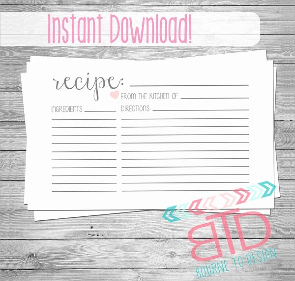 Free Editable Recipe Card Templates for Microsoft Word Lovely 18 Printable Recipe Card Free Psd Vector Eps Png