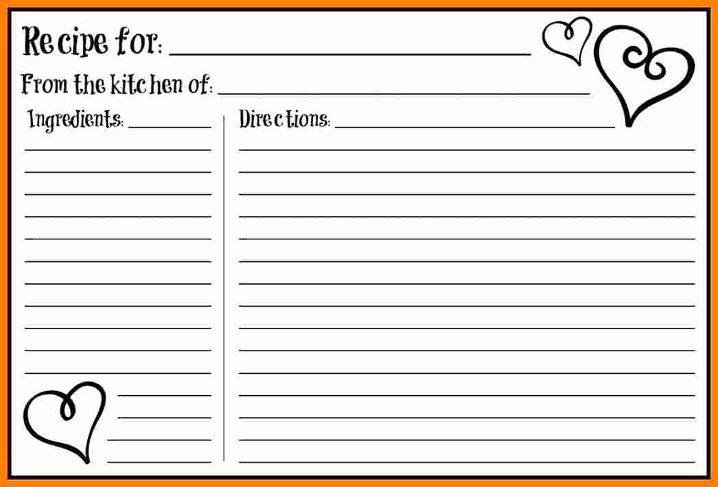 Free Editable Recipe Card Templates for Microsoft Word Lovely 5 Free Editable Recipe Card Templates for Microsoft Word