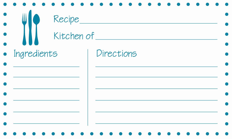 Free Editable Recipe Card Templates for Microsoft Word Luxury Free Printable Recipe Cards