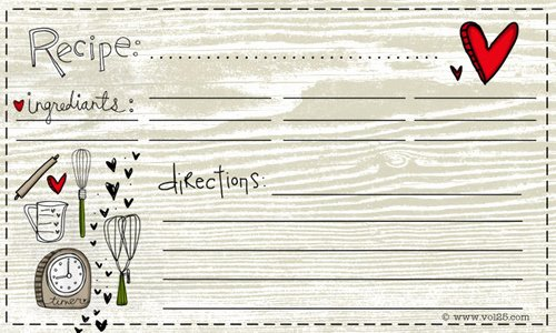 Free Editable Recipe Card Templates for Microsoft Word New 25 Free Printable Recipe Cards Home Cooking Memories